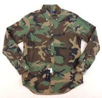 Polo Ralph Lauren Pony Military Army Camo Camouflage Western Oxford Shirt L XXL