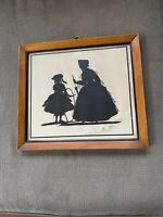 """Antique VINTAGE SILHOUETTE  - By NOTED ARTIST - DORIS BURDICK  """"In Grandma's Day"""