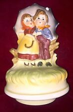 Chadwick-Miller Japan Vintage 1970 Boy/Girl Music Box -Raindrops Are Fallin