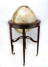 "A 16"" Heirloom Globe By Reploge, On A Mahogany.M020. Lot 2260"