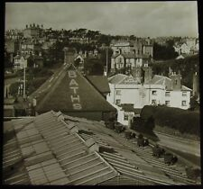 Glass Magic Lantern Slide BELLE VIEW AND PIER HOTEL BOURNEMOUTH C1890 OLD PHOTO