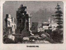 Stampa antica TOBOLSK veduta Siberia Russia 1870 Antique print античный печать