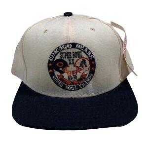 Vintage Chicago Bears American Needle Snapback Hat NFL 1986 Super Bowl Champions