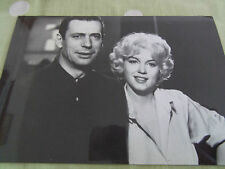 MARILYN MONROE 80s postcard 1960 Let's Make Love on set with Yves Montand