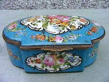 More details for antique sevres porcelain trinket box large