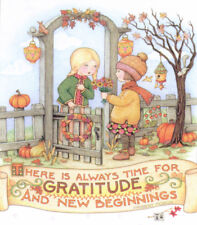 Always Time For Gratitude-Handmade Thanksgiving Magnet-w/Mary Engelbreit art