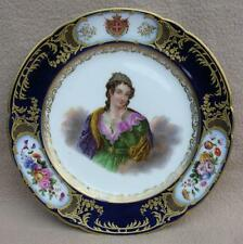 Antique Paris Boyer Sevres Porcelain Armorial Plate Royalty House of Savoy ITALY