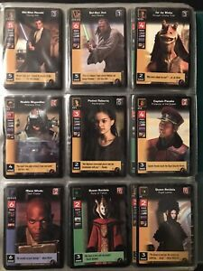 Star Wars Young Jedi CCG Menace of Darth Maul Complete Set - Some foils & extra