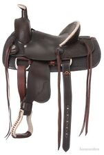 13 Inch Youth Western Roper Saddle - Dark Oil Leather - Liberty Roper