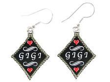 Gigi Silver Diamond Wire Hook Earrings Jewelry Family Gift Grandmother