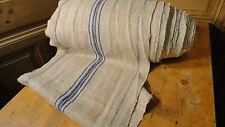 Homespun Linen Hemp/Flax Yardage 32 Yards x 18.5' Blue Stripes #6441