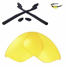 WL Yellow Replacement Lenses and Black Rubber Kit For Oakley Half Jacket 2.0