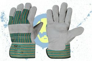 Lederhandschuhe 12 Paar Arbeitshandschuhe Handschuhe Schutzhandschuhe Gr.10,5