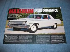 "1964 Dodge 330 Sedan Super Stock Hemi Info Article ""Maximum Performance"""