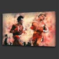 ICONIC FILM ROCKY BALBOA DRAGO BOX MOUNTED CANVAS PRINT WALL ART PICTURE PHOTO
