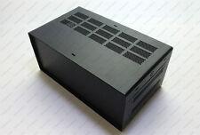 (3U) 131 x 178 x 305 mm BLACK Hi-Aluminum Electronic Enclosure DIY Project Box
