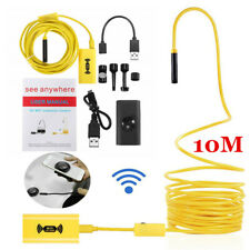 10m/8mm WiFi Endoscope Borescope Inspection Camera IP68 for iPhone Android Mac