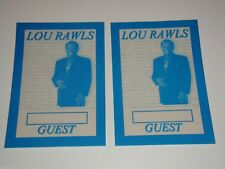Lou Rawls 2 Unused Concert Guest Backstage Ticket Passes Pass Perri Usa