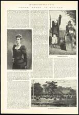 1891-ANTIQUE PRINT Inde Manipur Zwanzi Mme Ethel St CLAIR (035)