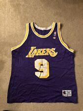 Vintage 90s Men's LA Lakers Nick Van Exel Champion NBA Basketball Jersey Size 48