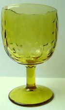 Vintage Amber Drinking Goblet