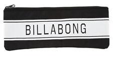 BRAND NEW + TAG BILLABONG LARGE STATEMENT PENCIL CASE BLACK ( FITS 30CM RULER)