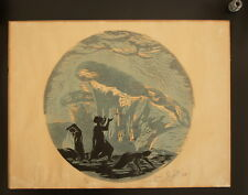 BIBLE STORY Jonah & the Fish by A. Soler Silk Screen 1967 Signed & Numbered
