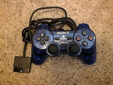 Sony Playstation 2 Clear Blue Dualshock 2 Controller Controller SCPH 10010