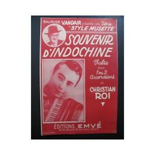 Souvenir d'Indochine Christian Roi Accordéon partition sheet music score
