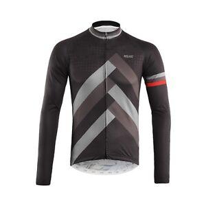 Full Zipper Cycling Jersey Men Breathable Long Sleeve Bicycle Shirt MTB Clothing