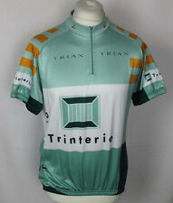 VINTAGE TRIAX CYCLING JERSEY TOP MENS SIZE 6 GREEN TRINTERIO BY DEKAPLY