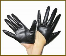 (Sex and the City) Women's (100% Leather) Half Palm Gloves/ 5 Half-Finger Gloves