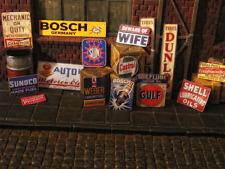 Deko Werbung Schilder Sign 1/18 Werkstatt Garage Tankstelle Diorama Deko Tool