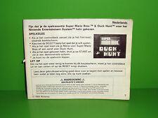 NOTICE D'INSTRUCTION BOOKLET NES - SUPER MARIO BROS DUCK HUNT