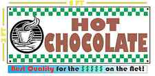HOT CHOCOLATE Banner Sign 4 Fresh Hot Whole Grind Coffee Cappuccino Machine