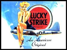 LUCKY STRIKE CIGARETTE VINTAGE ADVERT LARGE STEEL WALL PLAQUE QUALITY RETRO SIGN