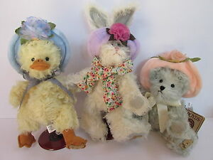 Boyd's Mohair Series™ ~ Set of 3, Donna Duck, Piper (Rabbit) & Ann Marie (Bear)