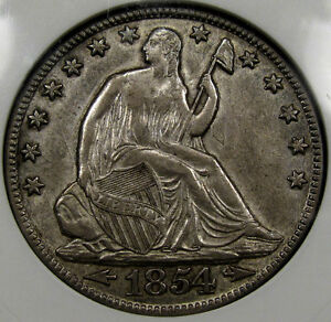 1854-O Seated Liberty Half Dollar ANACS CHOICE AU-55 SO NICE, ORIGINAL, & FLASHY