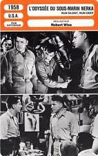 FICHE CINEMA : L'ODYSSEE DU SOUS-MARIN NERKA Gable,Lancaster,Wise1958 Run Silent