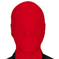 Red Lycra Spandex Accessories New Zentai Mask Party Halloween Adult Costumes
