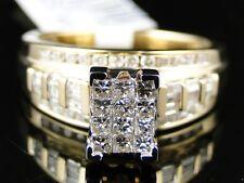 10K Ladies Yellow Gold Princess Cut Diamond Engagement Wedding Ring .80 Ct