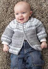 baby cluster yoke cardigan crochet pattern 99p