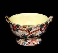 Vintage Maling stunning lustre chintz sugar bowl