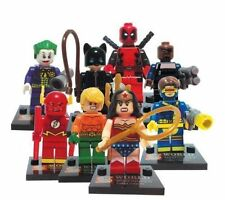 8 Mini Figures Fit With Lego Marvel DC Flash Deadpool Cyclops Wonder Woman Joker