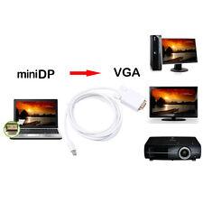 1.8M Thunderbolt Mini DP to VGA Male Adapter TV AV Cable For Macbook Air Pro 6ft