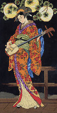 Cross Stitch Kit ~ Janlynn Kameko Beautiful Asian Lady & Music #023-0324 OOP