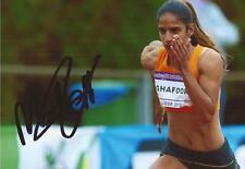 Atletica leggera: madiea ghafoor firmata 6x4 FOTO D'AZIONE + COA * Rio 2016 * * * Paesi Bassi
