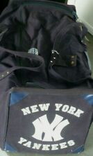 NEW YORK YANKEES TEAM ISSUE LARGE USED COSBY TRAVEL BAG-  BENEFITS CHARITY