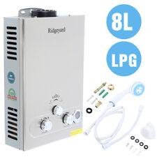 8L Tankless Water Heater Liter LPG Geyser Shower Head Digital Display Boiler Gas