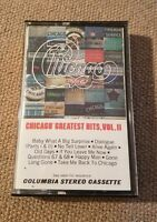 Chicago Greatest hits Vol 2 II Cassette Tape Music 1981